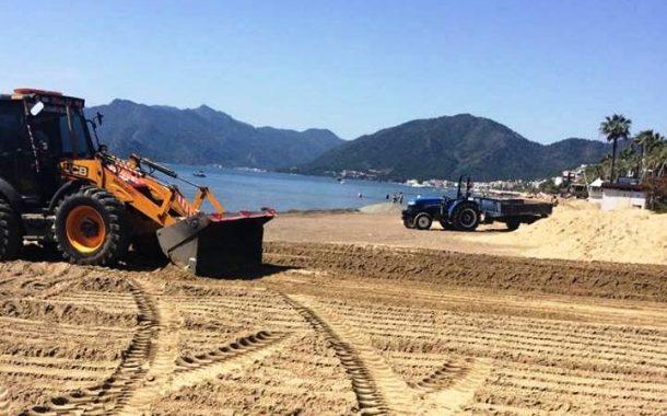 Plajın Kum Kalitesi Arttırıldı