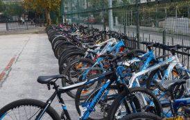 Belediye'den Öğrencilere Bisiklet Park Yeri